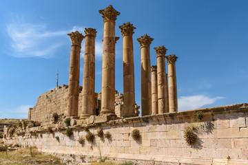 Giordania antiche rovine di Jerash