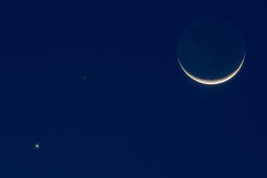 Moon, Mars, Venus