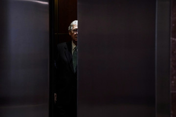 "U.S. Senate Majority Leader Mitch McConnell arrives for the so-called ""Gang of Eight"" classified briefing on Capitol Hill in Washington"