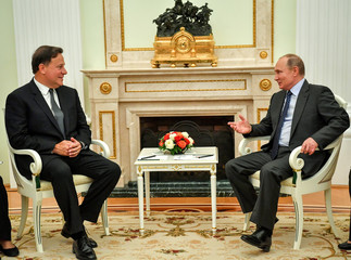 Russian President Putin meets with Panamanian President Varela in Moscow