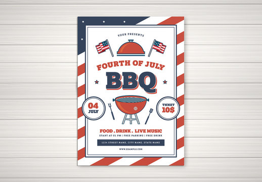 4th of July BBQ Flyer Layout