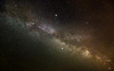 Milky Way at midnight