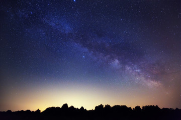 Milky Way in the countryside