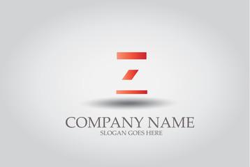 Stripes Letter Z Icon Design Element Template