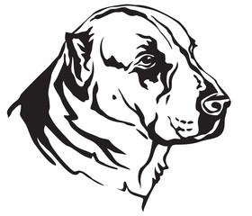 Decorative portrait of Central Asian Shepherd Dog vector illustration