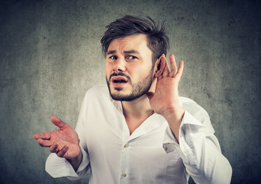 Deaf man in†confused with quiet sound