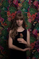 Girl with bird