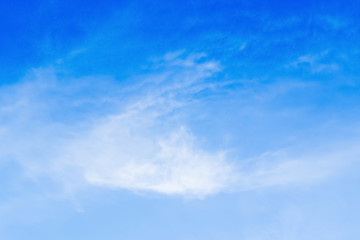 Clouds in the summer blue sky