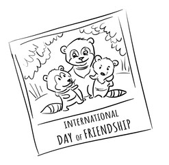 Doodle photo animals friend  - international day of friendship