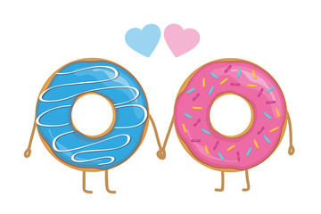 two donuts in love