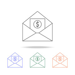envelope with money icon. Elements of banking in multi colored icons. Premium quality graphic design icon. Simple icon for websites, web design, mobile app, info graphics
