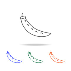 Outline Pea icon. Elements of fruits and vegetables in multi colored icons. Premium quality graphic design icon. Simple icon for websites, web design, mobile app