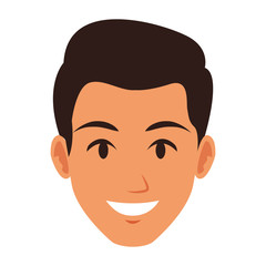 Young man face vector illustration graphic design