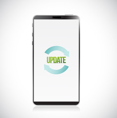 smartphone update concept icon. Vector Illustration