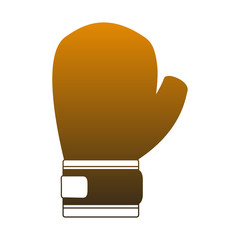 Boxing glove isolated vector illustration graphic design