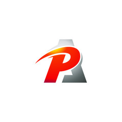 Abstract letter P and A logo template