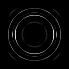 Aperture with black hole, abstract background