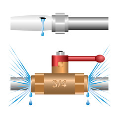 water leakage at the joints of water pipes