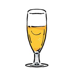 ビール イラスト グラスビール