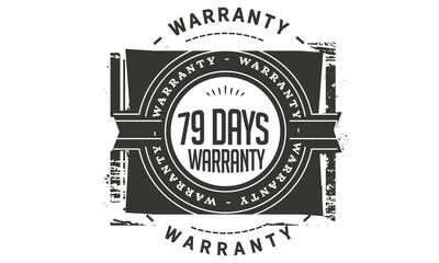 79 days warranty icon stamp