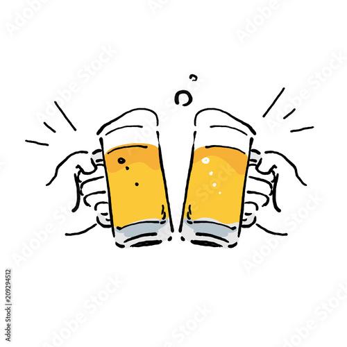ビール イラスト 乾杯 Fotoliacom の ストック画像とロイヤリティ