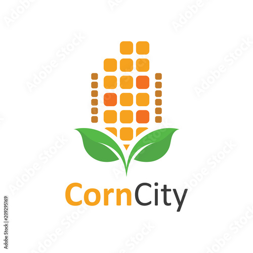 Corn City Agriculture Food Symbol Stock Image And Royalty Free