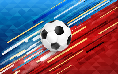 Sport event web banner with soccer ball