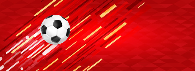 Soccer ball web banner for special sport event