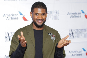 Recording artist Usher arrives for the Songwriters Hall of Fame Awards in the Manhattan borough of New York City, New York