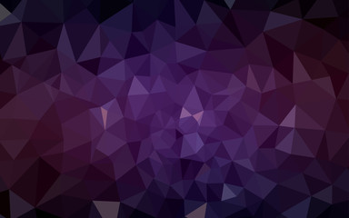 Dark Pink, Yellow vector polygon abstract backdrop.