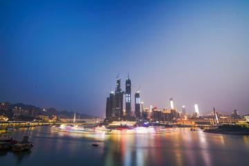 Night view of chongqing city