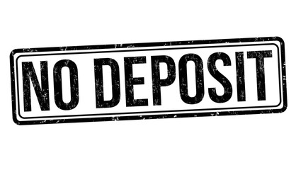 No deposit grunge rubber stamp