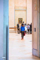 People are visiting Louvre Museum