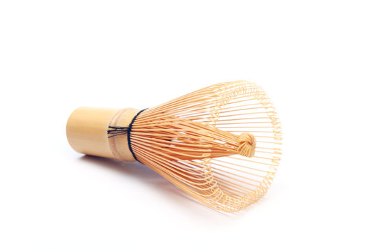 Bamboo whisk on the  white background