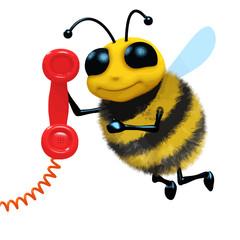 Vector 3d Telephone bee