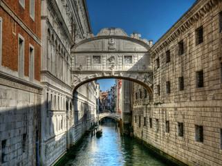Keuken foto achterwand Gondolas Pont des soupirs, Venise, Italie