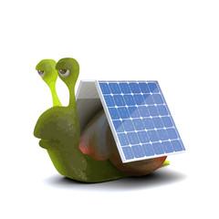 Vector 3d Snail is solar powered