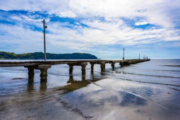 原岡海岸の桟橋 Jetty in Chiba