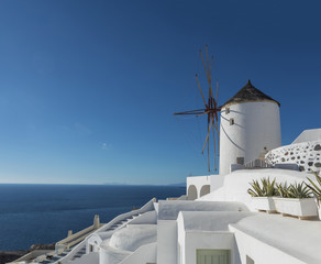 Iconic Windmills Of Santorini