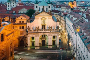 Prague, Czech Republic - Church of St. Salvator at the night