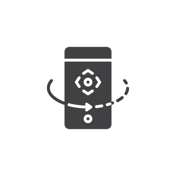 Mobile rotate vector icon. filled flat sign for mobile concept and web design. phone rotation arrow simple solid icon. Symbol, logo illustration. Pixel perfect vector graphics