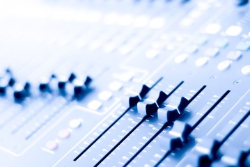 Audio mixer during live performance