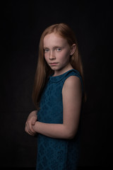 Studio portrait of girl