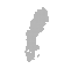 Pixel map of Sweden. Vector dotted map of Sweden isolated on white background. Abstract computer graphic of Sweden map. vector illustration.