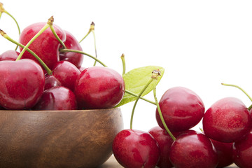 isolated cherries in white background
