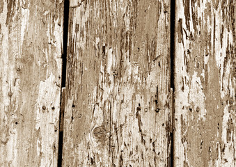 Grunge wooden fence pattern in brown color.
