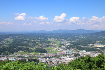 片曽根山からの眺め(福島県・田村市)