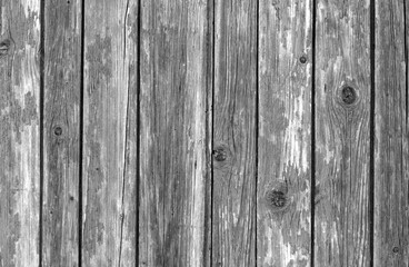 Old wooden fence pattern in black and white.