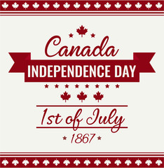 Canada day card or background. Independence day. vector illustration.