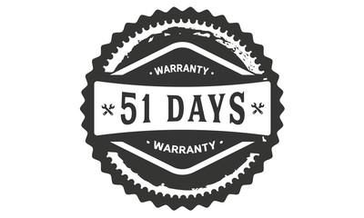 51 days warranty icon stamp